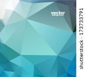 vector abstract geometric... | Shutterstock .eps vector #173733791