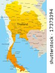 Vector map of Thailand country