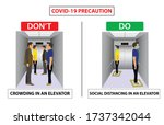 do and don't poster for covid...   Shutterstock .eps vector #1737342044