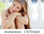 portrait of young smiling... | Shutterstock . vector #173734265