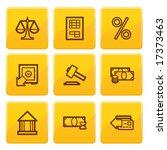golden senso finance icons set.