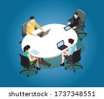 four seater meeting room.... | Shutterstock .eps vector #1737348551