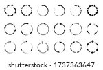 set of vector recycle symbols ... | Shutterstock .eps vector #1737363647