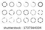 set of recycle symbols ... | Shutterstock . vector #1737364334