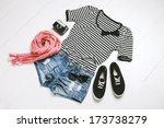 overhead of essentials of a...   Shutterstock . vector #173738279