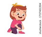 Happy Cute Little Kid Girl Tie...
