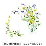 rustic wild little yellower...   Shutterstock . vector #1737407714