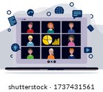online video conference  video...   Shutterstock .eps vector #1737431561