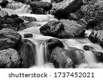 Silky Water Flowing Through The ...