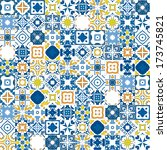 seamless mosaic pattern made of ... | Shutterstock .eps vector #173745821
