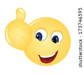 emoticon thumps up showing... | Shutterstock .eps vector #173746595
