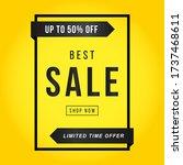 vector illustration of a sale... | Shutterstock .eps vector #1737468611