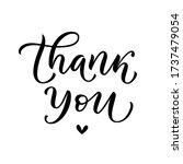 thank you card. vector text.... | Shutterstock .eps vector #1737479054