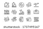 Airport Line Icons Set....