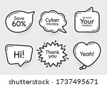 comic chat bubbles. cyber...   Shutterstock .eps vector #1737495671