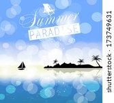 summer holidays vector... | Shutterstock .eps vector #173749631