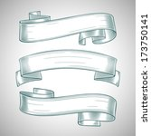 ribbon banners set | Shutterstock .eps vector #173750141
