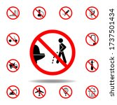 forbidden pissing toilet icon...