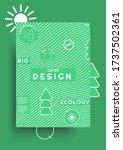 modern ecology cover design... | Shutterstock .eps vector #1737502361