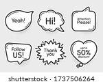 comic chat bubbles. follow us ...   Shutterstock .eps vector #1737506264