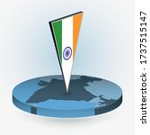 india map in round isometric... | Shutterstock .eps vector #1737515147