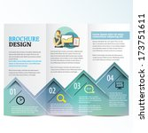 brochure template | Shutterstock .eps vector #173751611