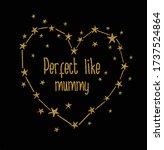 mummy glitter girl mother slogan | Shutterstock .eps vector #1737524864