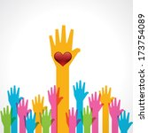 colorful helping hand... | Shutterstock .eps vector #173754089