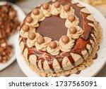 Delicious Mocha Cake Decorated...