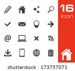 website and internet icons on... | Shutterstock .eps vector #173757071