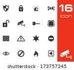 vector black security icons set ... | Shutterstock .eps vector #173757245