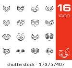 vector black  cartoon  eyes ... | Shutterstock .eps vector #173757407