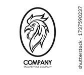 rooster logo vector. design... | Shutterstock .eps vector #1737590237
