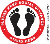 social distancing or safe...   Shutterstock .eps vector #1737604964