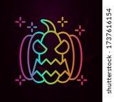 halloween fear horror pumpkin... | Shutterstock .eps vector #1737616154