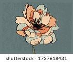 hand drawn botany illustration. ... | Shutterstock .eps vector #1737618431