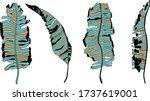 tropcal leaves illustration.... | Shutterstock .eps vector #1737619001