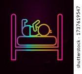 sleeping baby  bed nolan icon...