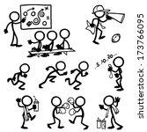 stick figure coaching   Shutterstock .eps vector #173766095