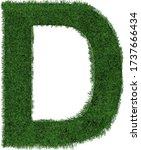 grass letter d isolated on... | Shutterstock .eps vector #1737666434