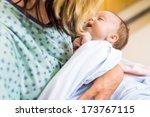 closeup of cute newborn... | Shutterstock . vector #173767115