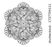 vector abstract black and white ... | Shutterstock .eps vector #1737704111