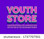 vector bright logo youth store. ... | Shutterstock .eps vector #1737707501