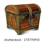 closed wooden chest | Shutterstock .eps vector #173770955
