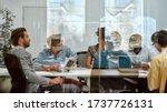 setting goals. group of... | Shutterstock . vector #1737726131