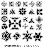 24 celtic knots  triquetra ... | Shutterstock .eps vector #173774777