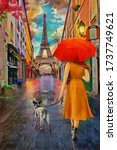 Oil Painting   Rainy Day Paris...