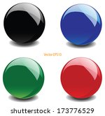 Colorful Glossy Ball Vector