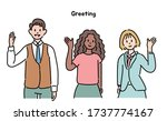 business characters of various... | Shutterstock .eps vector #1737774167