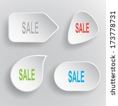 sale. white flat raster buttons ... | Shutterstock . vector #173778731